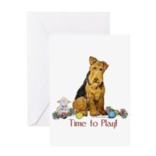Time to Play Airedale! Greeting Card