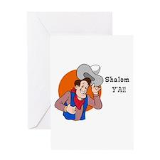 JEWISH SHALOM Y'ALL Greeting Card