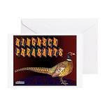 Ringneck Pheasants Greeting Cards (Pk of 10)