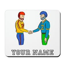 Football Players Handshake (Custom) Mousepad