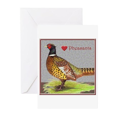 We Love Pheasants! Greeting Cards (Pk of 10)