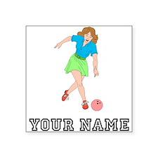 Woman Bowling Sticker