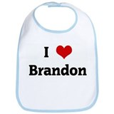 I Love Brandon Bib