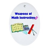 Scott's Weapons of Math Destruction Ornament (Oval