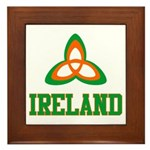 Irish Trinity Framed Tile