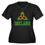 Irish Trinity Women's Plus Size V-Neck Dark T-Shir