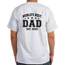 Personalized World's Best Dad T-Shirt