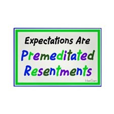 Expectations Are...Blue Rectangle Magnet