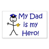 Police Kid Hero Rectangle Decal