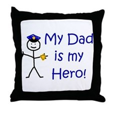 Police Kid Hero Throw Pillow