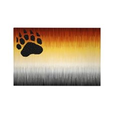 BEAR PRIDE FLAG FURRY LOOK Rectangle Magnet