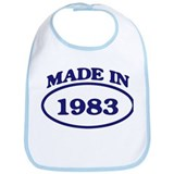 Made in 1983 Bib