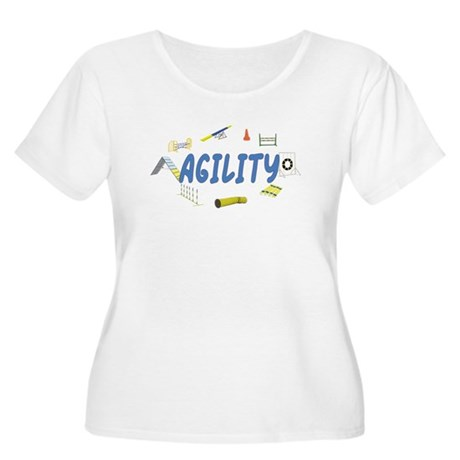 Agility Women's Plus Size Scoop Neck T-Shirt