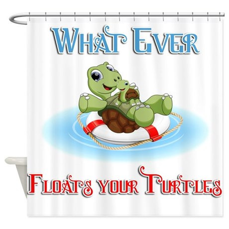 What Ever Baby And Mama Turtle Shower Curtain