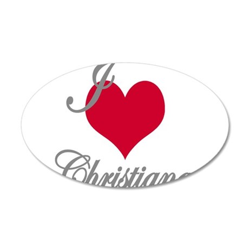 I love (heart) Christiana 35x21 Oval Wall Decal