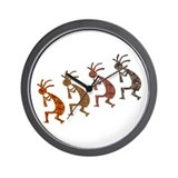 Four Kokopelli Wall Clock