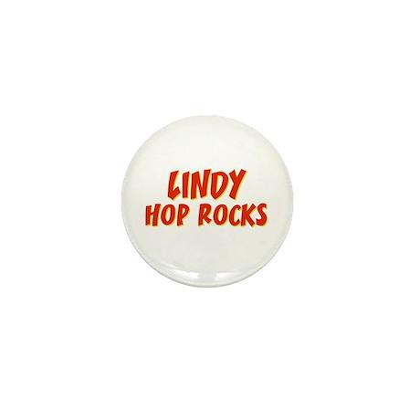 Lindy Hop Rocks Mini Button (10 pack)