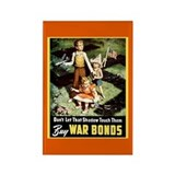 WW II Retro Posters on Magnets