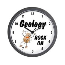 Geology, Rock On Wall Clock