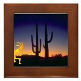 Cactus and Kokopelli Framed Tile