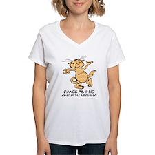 Dancing Cat Women's V-Neck T-Shirt
