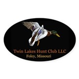 Twin Lakes Oval Decal