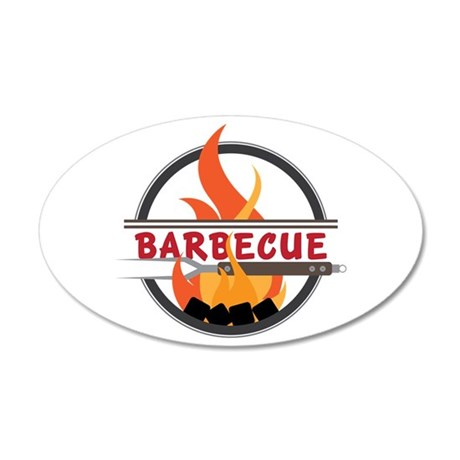 Barbecue Flame Logo Wall Decal