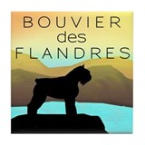 Bouvier By The Sea Tile Coaster
