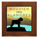 Bouvier By The Sea Framed Tile