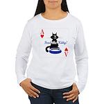 Cats Playing Poker Women's Long Sleeve T-Shirt