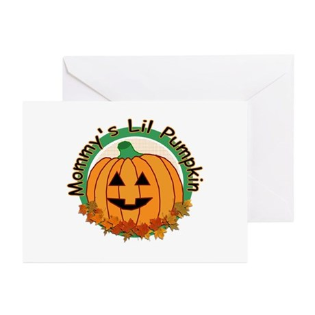Mommy's Lil Pumpkin Greeting Cards (Pk of 10)