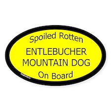 Spoiled Entlebucher Mountain Dog Oval Decal