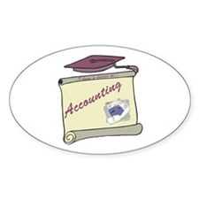 Accounting Degree Oval Decal