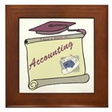 Accounting Degree Framed Tile