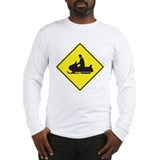 Snowmobile Crossing Long Sleeve T-Shirt