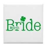 March Bride Tile Coaster