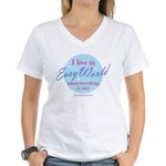 Easy World Women's V-Neck T-Shirt