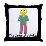 The Complete Smiley Throw Pillow