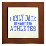 Only Date Athletes Framed Tile