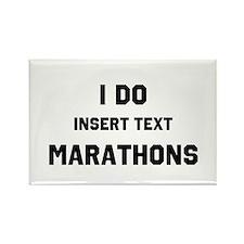 I do insert marathons Rectangle Magnet