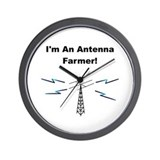 Antenna Farmer Wall Clock