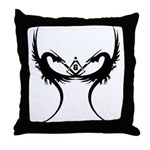 Square and Dragons Throw Pillow