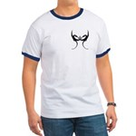 Square and Dragons Ringer T