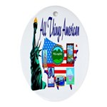 All Things American Oval Ornament