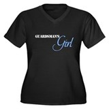 Guardsman's Girl Women's Plus Size V-Neck Dark T-S
