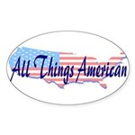 All Things American Oval Sticker