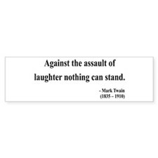 Mark Twain 22 Bumper Bumper Sticker