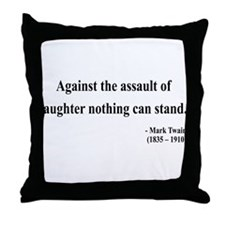 Mark Twain 22 Throw Pillow