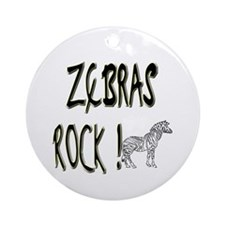 Zebras Rock ! Ornament (Round)