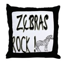 Zebras Rock ! Throw Pillow